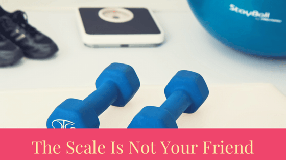 non-scale victories, scale, exercise ball, dumbbells, shoes