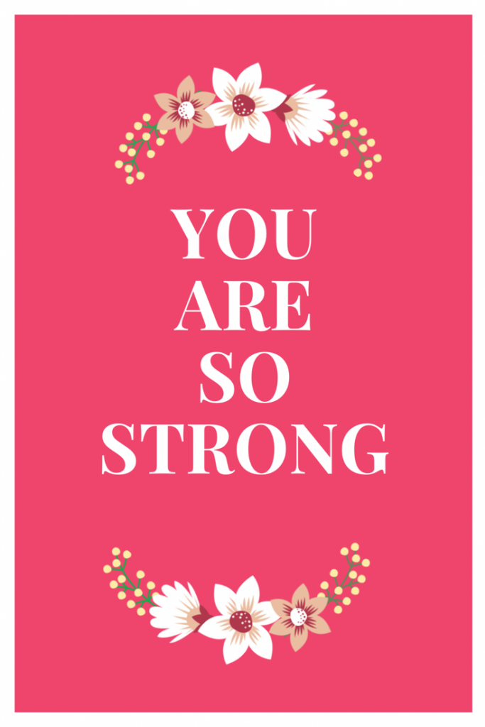 Inspiration for tough workouts: you are so strong quote