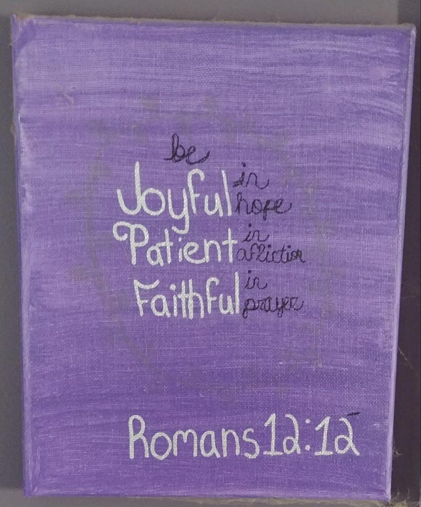 Romans 12:12 painting