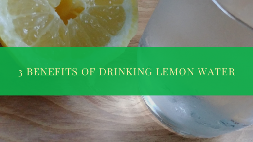 Benefits of lemon water title