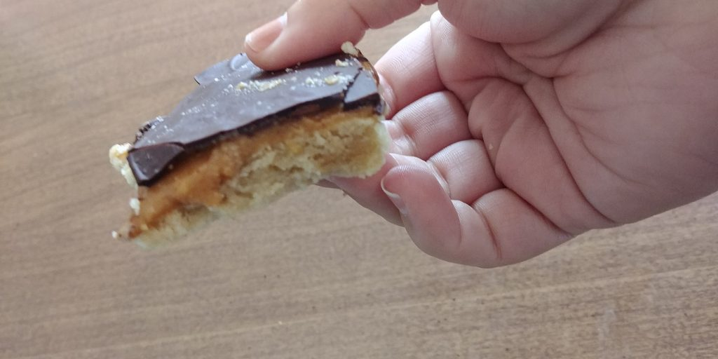 Healthy Halloween Candy: twix bar from Ambitious Kitchen