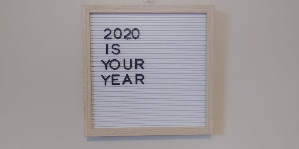 2020 letterboard