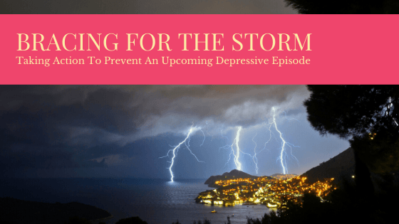 title image of storm clouds that could represent a depressive episode