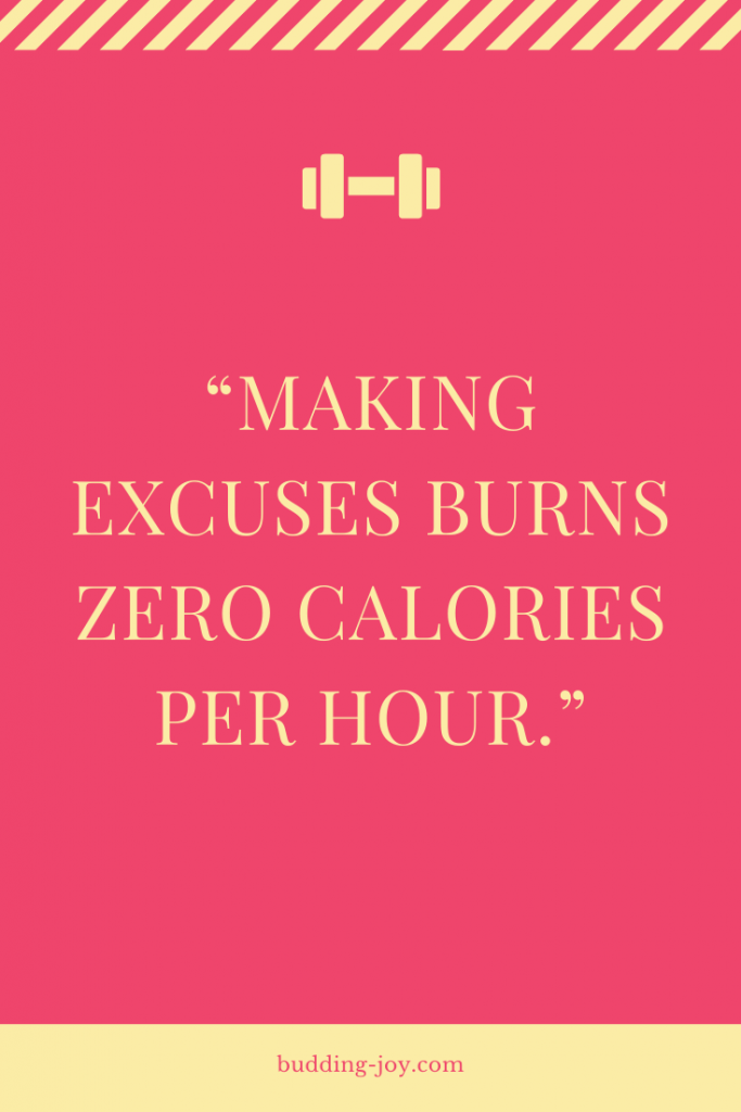 workout excuses quote