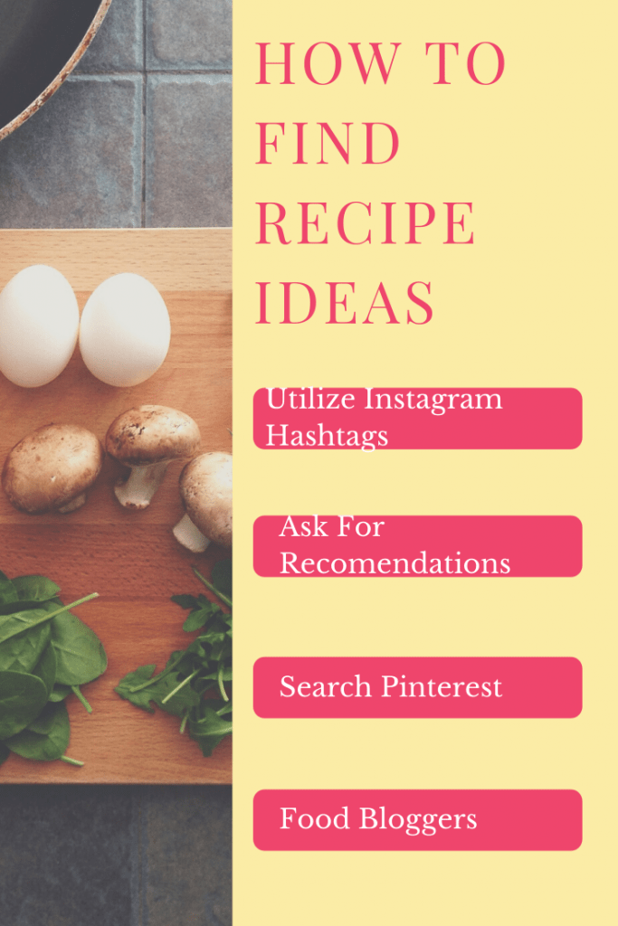 How to find recipe ideas list