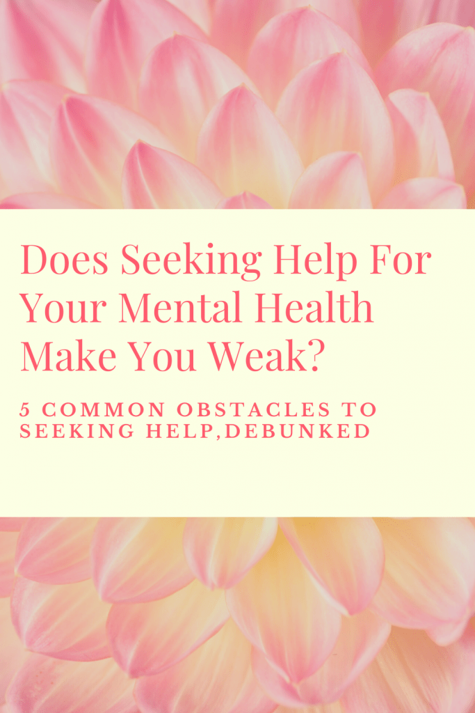 seeking help for your mental health title
