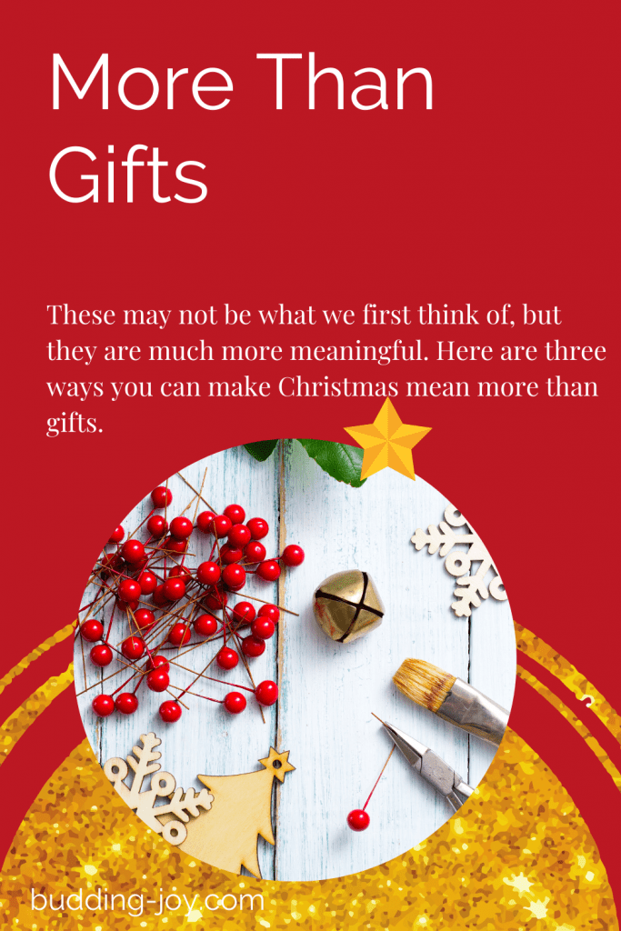 giving gifts that cost little or no money