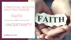Faith over Uncertainty